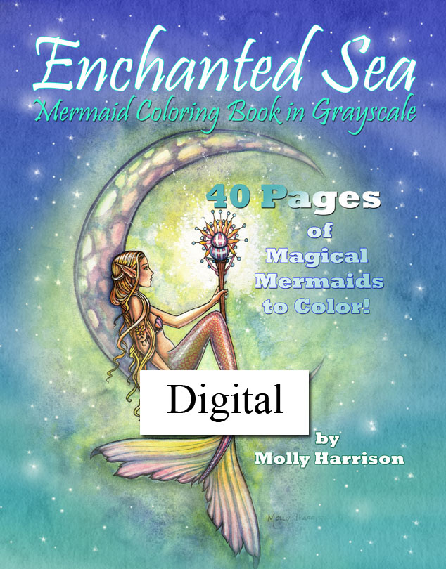 Enchanted Sea Mermaid Grayscale Coloring Book Pdf