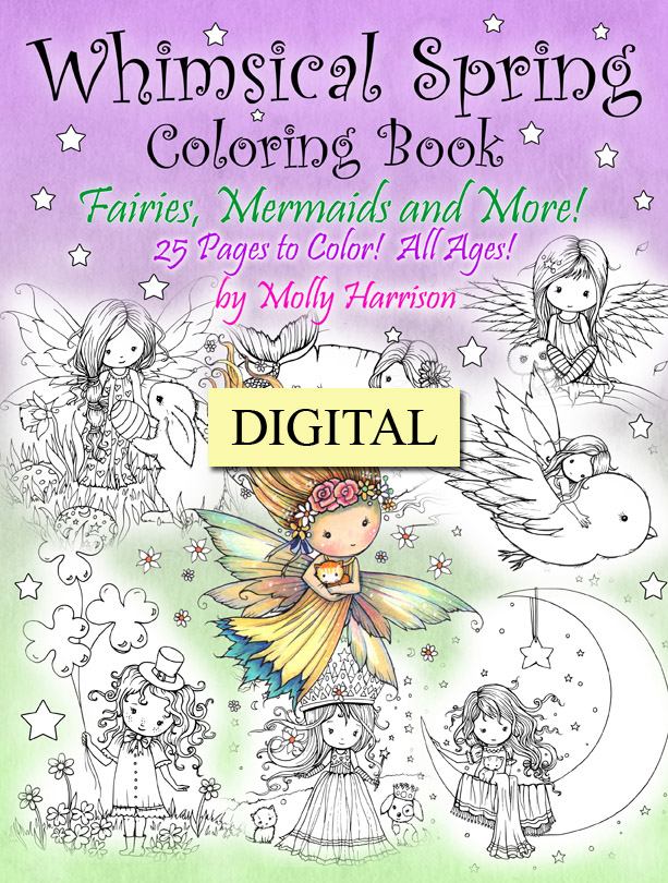 Whimsical Spring Digital Coloring Book Pdf