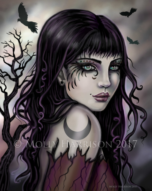 Quot Crow Girl Quot Fine Art Print By Molly Harrison