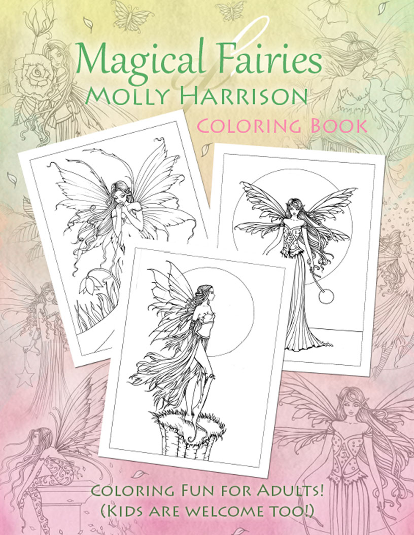 digital coloring books by molly harrison the fairy art and fantasy art of molly harrison official shop and gallery - Coloring Book Art