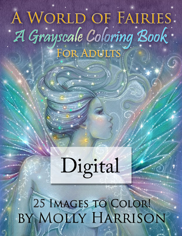 Digital Coloring Books by Molly Harrison - The Fairy Art and ...